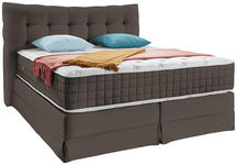 Boxspringbett Domino ca.200/220cm, Taupe - Taupe, KONVENTIONELL, Holz (200/220cm) - James Wood