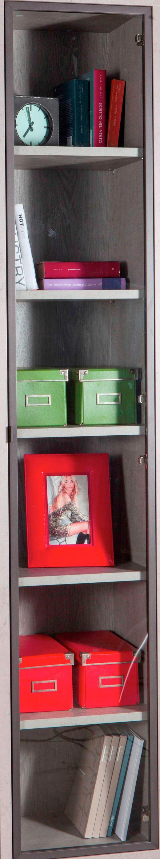TÜR 37/209/2 cm - Bronzefarben, Design, Glas/Metall (37/209/2cm) - Carryhome