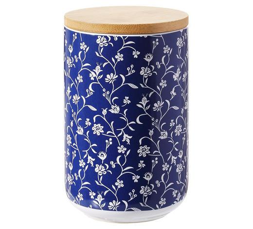 DÓZA NA POTRAVINY - bílá/modrá, Lifestyle, dřevo/keramika (10/15cm) - Landscape