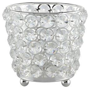VÄRMELJUSHÅLLARE - silver, Basics, metall/glas (12/10cm) - Ambia Home