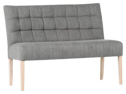 SITZBANK 120/94/65 cm  in Grau - Naturfarben/Grau, KONVENTIONELL, Holz/Textil (120/94/65cm) - Cantus