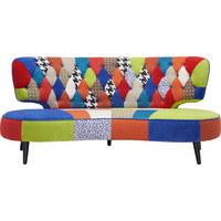 SOFA in Holz, Textil Multicolor - Multicolor/Schwarz, Design, Holz/Textil (193/86,5/106cm) - Carryhome