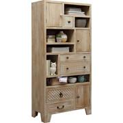REGAL in 85/178/40 cm Naturfarben, Weiß - Bronzefarben/Weiß, Trend, Holz/Holzwerkstoff (85/178/40cm) - Ambia Home