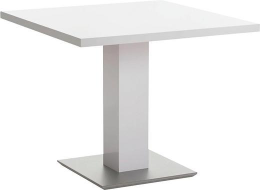 ESSTISCH quadratisch Weiß - Weiß, KONVENTIONELL, Holzwerkstoff (90/90/75cm) - MODERANO