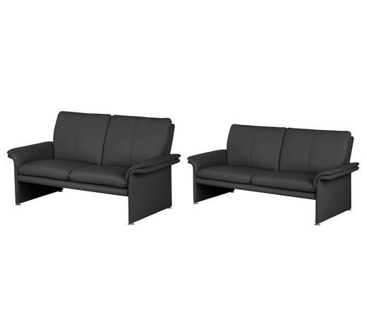 Sitzgarnitur Aus Leder In Schwarz 2 Teilig Kaufen