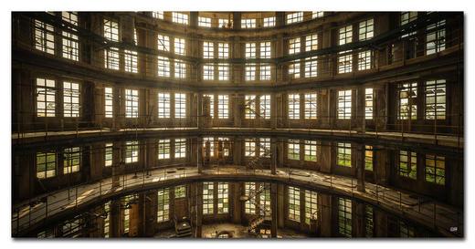 Architektur BILD SUNRISE, AND THE NEW - Multicolor, Basics, Holzwerkstoff/Kunststoff (150/75cm) - Wiedemann
