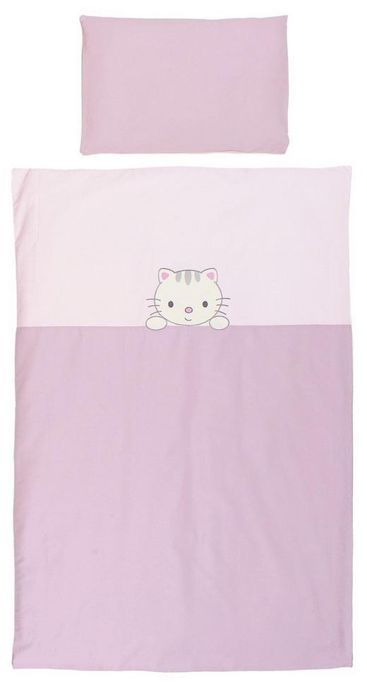 BABYBETTWÄSCHE 80/80 cm - Beige/Flieder, Basics, Textil (80/80cm) - My Baby Lou