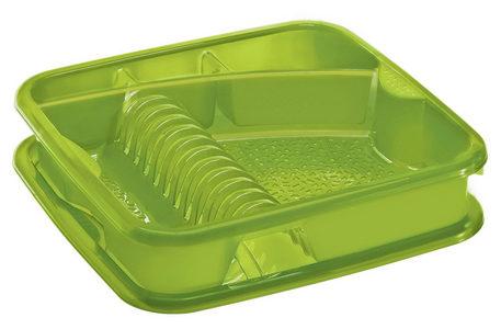 OCEĐIVAČ ZA POSUĐE - Zelena, Konvencionalno, Plastika (39,5/39,5/8,5cm) - Rotho