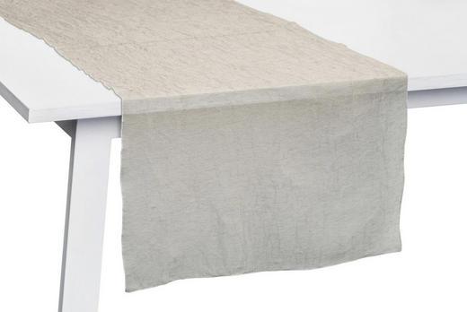 TISCHLÄUFER Textil gecrasht Naturfarben 50/150 cm - Naturfarben, Basics, Textil (50/150cm)
