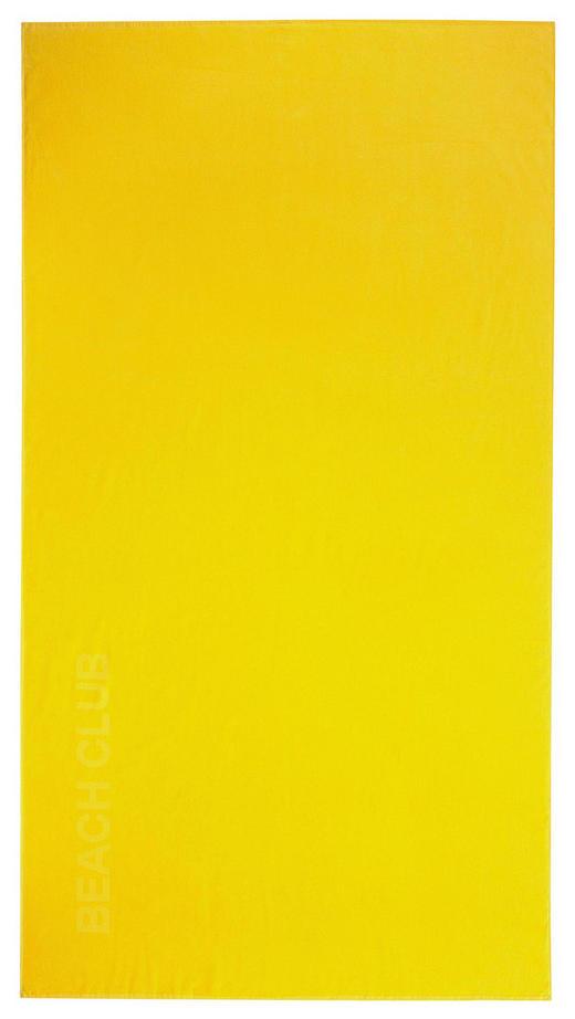 STRANDTUCH 100/180 cm - Gelb, Basics, Textil (100/180cm) - Vossen