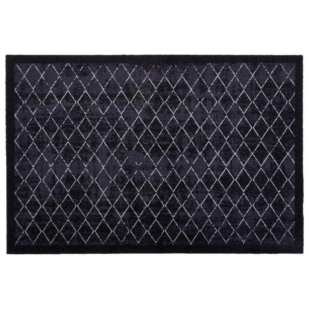 Esposa Fußmatte 60/90 cm karo schwarz