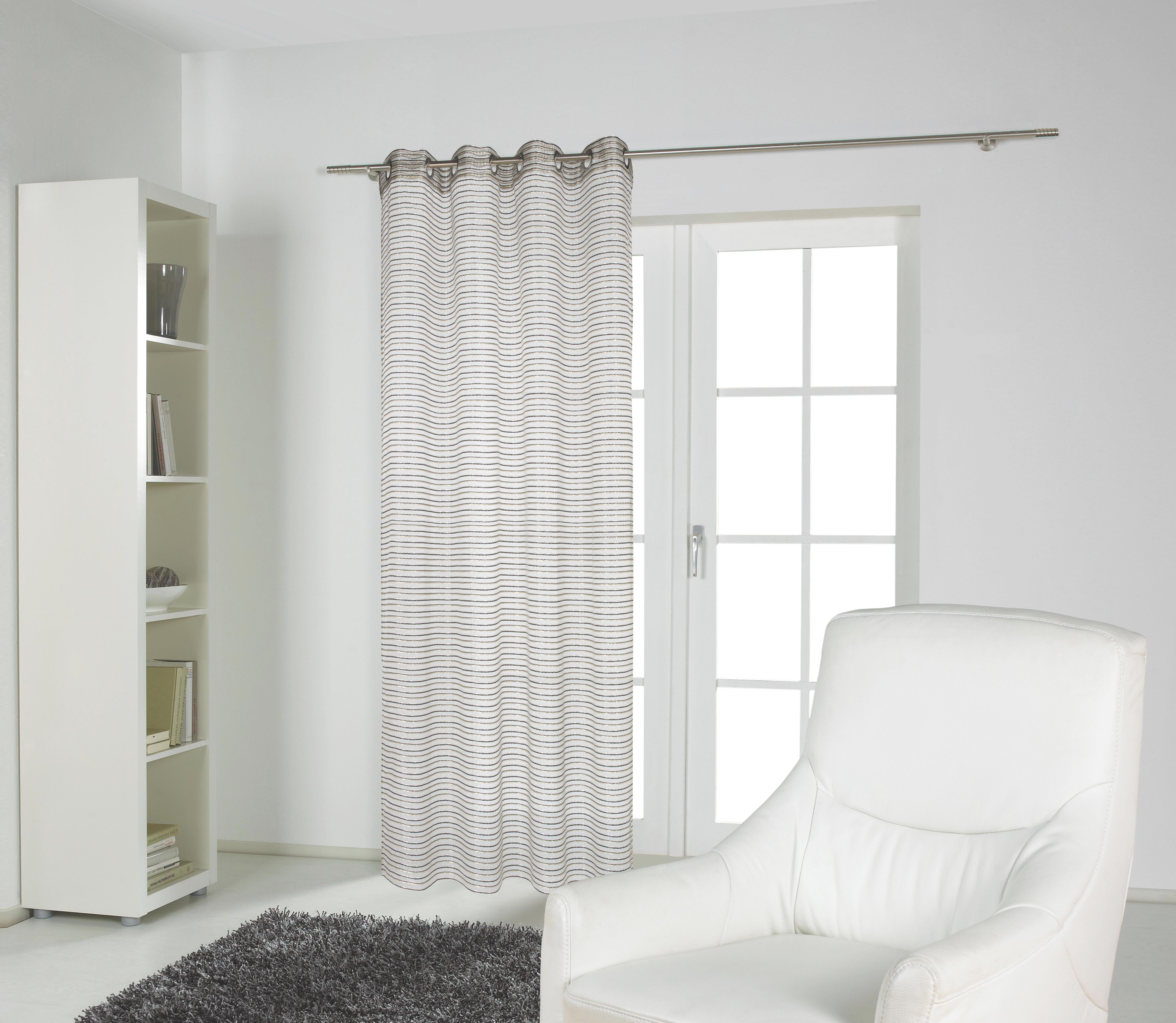 ÖSENSCHAL  transparent  140/235 cm - Silberfarben, Textil (140/235cm) - ESPOSA