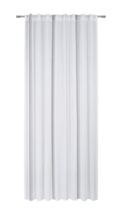 FERTIGVORHANG  transparent   135/245 cm - Schwarz/Weiß, Basics, Textil (135/245cm) - ESPOSA