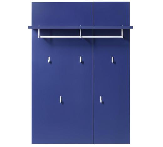 GARDEROBENPANEEL 80/116/30 cm - Blau, Design, Holzwerkstoff/Metall (80/116/30cm) - Xora