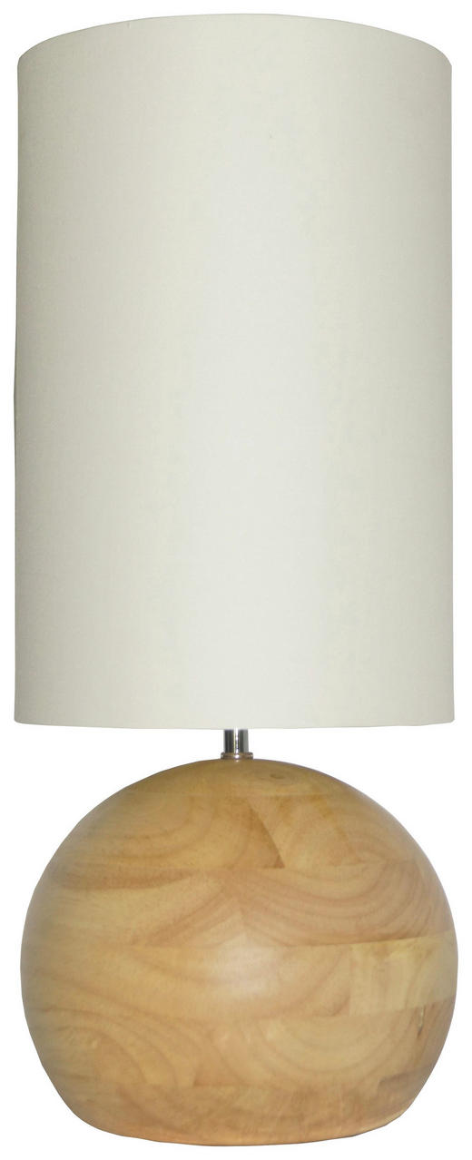 TISCHLEUCHTE - Champagner, LIFESTYLE, Holz/Textil (20/48/20cm)