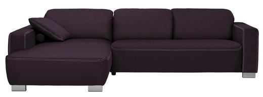 WOHNLANDSCHAFT in Textil Violett - Chromfarben/Violett, Design, Holz/Textil (195/296cm) - Hom`in