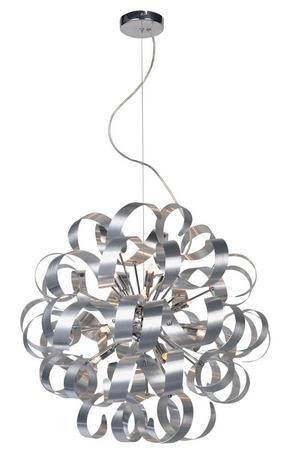 LED-PENDELLAMPA - alufärgad/kromfärg, Design, metall (60/180cm) - Ambiente