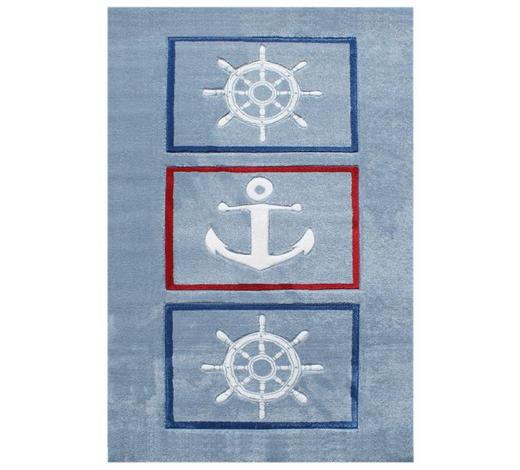 KINDERTEPPICH  160/230 cm  Blau, Rot, Hellblau   - Blau/Rot, Basics, Textil (160/230cm)