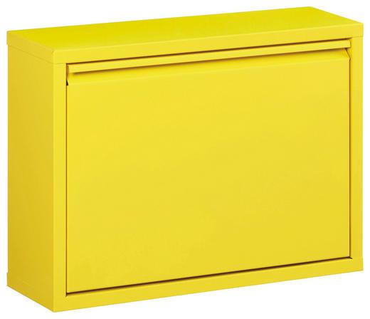 SCHUHKIPPER lackiert Gelb - Gelb, Design, Metall (50/37/15cm) - Carryhome