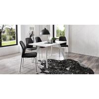 STOLICA - boje kroma/crna, Design, metal/tekstil (47/90/58cm) - Carryhome