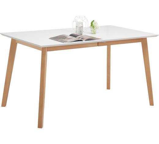ESSTISCH in Holz, Holzwerkstoff 140(185)/80/75 cm - Buchefarben/Weiß, Design, Holz/Holzwerkstoff (140(185)/80/75cm) - Carryhome