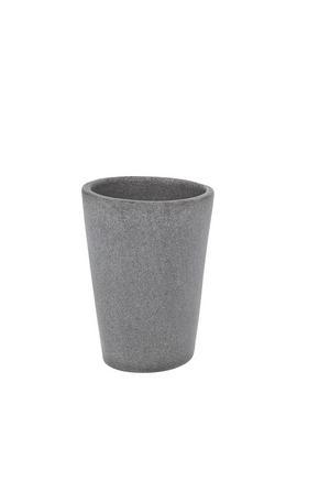 TANDBORSTMUGG - grå, Basics, plast (8.8/7.7/10.9cm)
