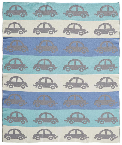 SCHMUSEDECKE - Türkis/Blau, Basics, Textil (80/100cm) - Patinio