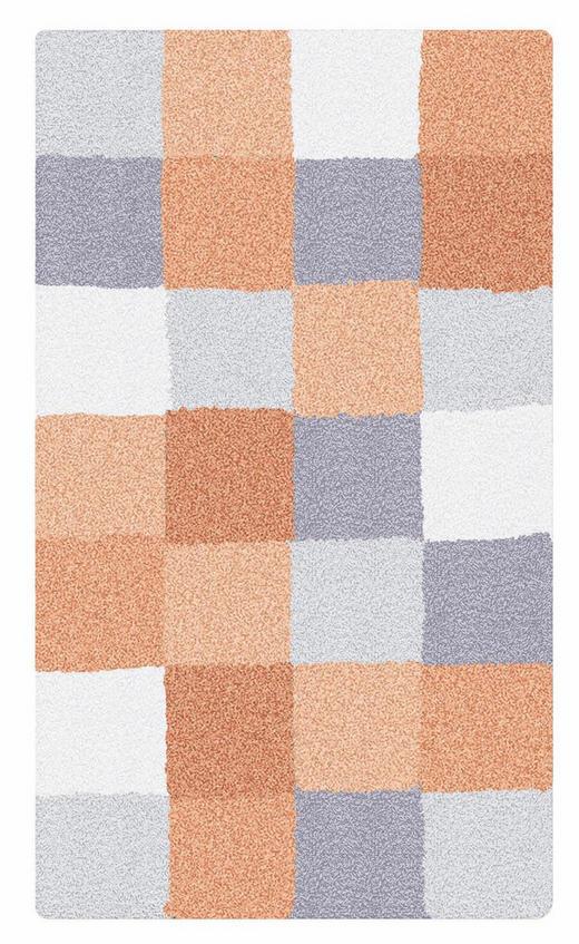 BADTEPPICH  Grau, Orange, Weiß  55/65 cm - Orange/Weiß, Basics, Kunststoff/Textil (55/65cm) - Kleine Wolke