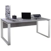 PISALNA MIZA leseni material bela  - bela/antracit, Design, kovina/leseni material (170/75/140cm) - Carryhome