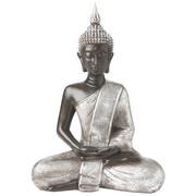 BUDDHA - Silberfarben, Basics, Kunststoff (31,5/42,5/18cm) - Ambia Home