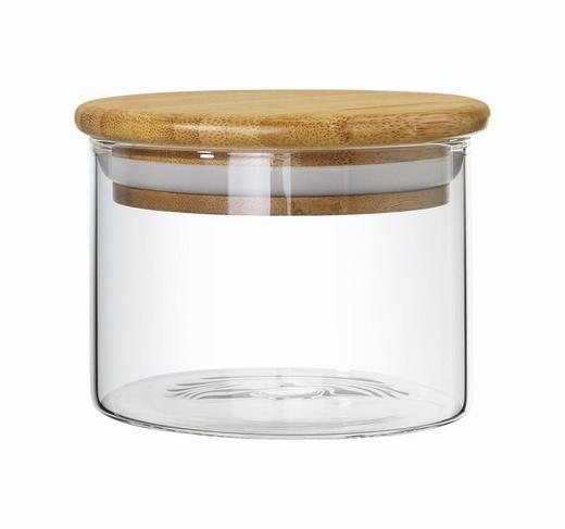 VORRATSGLAS 0,35 L - Klar/Naturfarben, Basics, Glas/Holz (10/7cm) - HOMEWARE