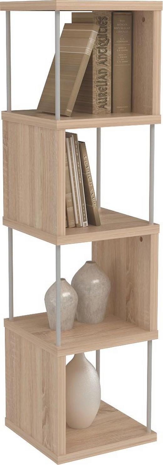 REGAL Alufarben, Eichefarben - Eichefarben/Alufarben, Design, Kunststoff/Metall (33/126/33cm) - BOXXX