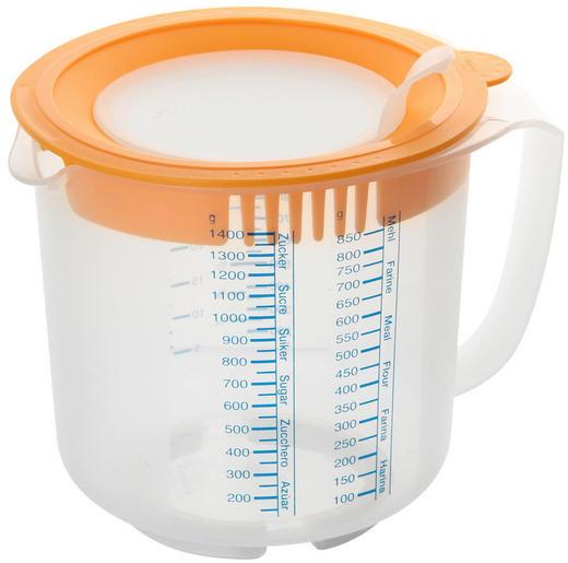 MESSBECHER - Transparent/Orange, Kunststoff (15/14,5cm) - Dr.Oetker
