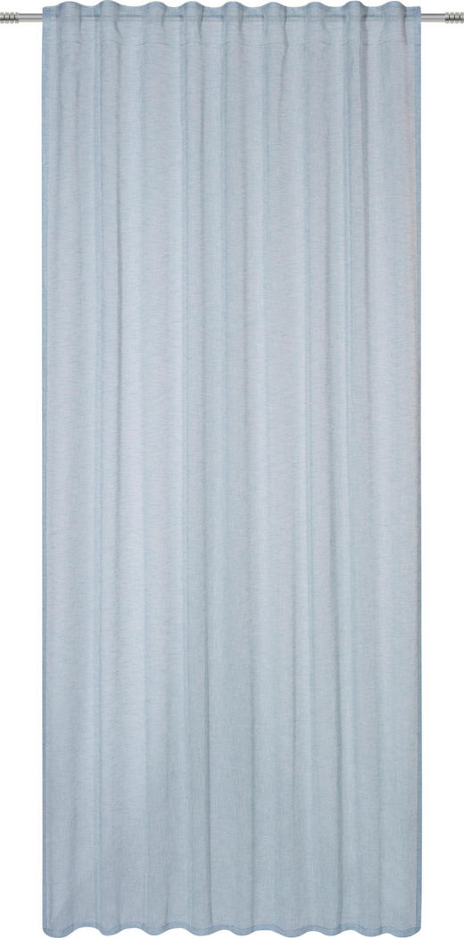 FERTIGVORHANG  halbtransparent - Blau, Basics, Textil (140/245cm) - Esposa
