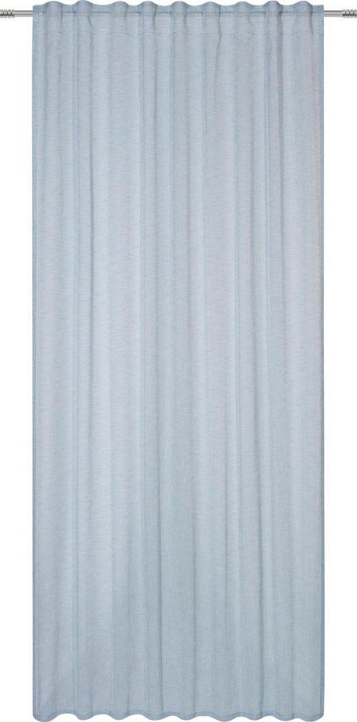 FERTIGVORHANG  halbtransparent   140/245 cm - Blau, Basics, Textil (140/245cm)