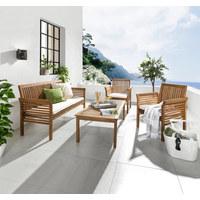 GARTENSET Akazie massiv - Naturfarben/Teakfarben, LIFESTYLE, Holz/Textil (62/78/61,5cm) - Ambia Garden