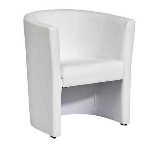 SESSEL Lederlook Weiß    - Schwarz/Weiß, Design, Kunststoff/Textil (69/76/63cm) - Carryhome
