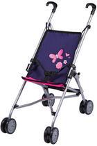 Puppenwagen - Pink/Dunkelblau, Basics, Kunststoff/Textil (51/26,5/55cm) - My Baby Lou