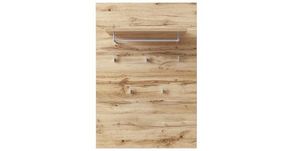 GARDEROBENPANEEL 80/117/30 cm  - Eichefarben/Silberfarben, KONVENTIONELL, Holzwerkstoff/Kunststoff (80/117/30cm) - Voleo