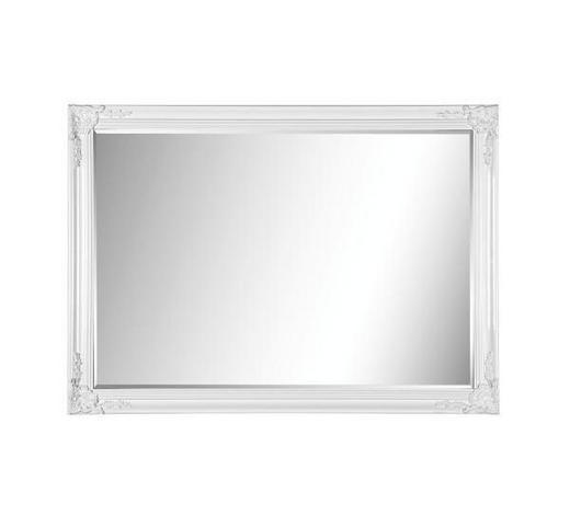 ZRCADLO, 105/75/3,3 cm,  - bílá, Lifestyle, dřevo (105/75/3,3cm) - Landscape