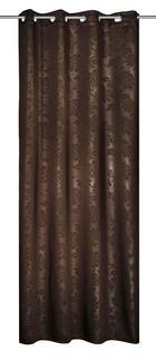 ZAVJESA S RINGOVIMA - smeđa, Konvencionalno, tekstil (135/245cm) - Venda
