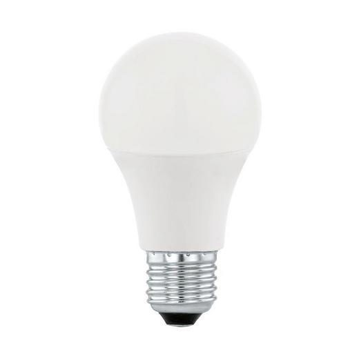 LED-LEUCHTMITTEL  E27 9 W - Silberfarben/Weiß, KONVENTIONELL, Metall (6/1,18cm)