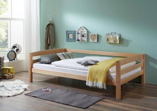 KINDER-/JUNIORBETT - Naturfarben, Design, Holz (90/200cm)