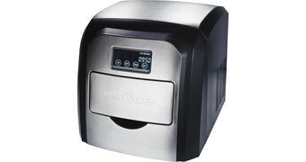 EISWÜRFELMASCHINE EWB 1007 - Silberfarben/Schwarz, KONVENTIONELL, Kunststoff/Metall (30/30/36cm)