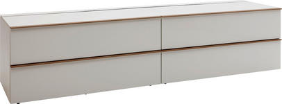 LOWBOARD Hochglanz, lackiert, matt Weiß - Schwarz/Weiß, Design (195/54/56,5cm) - Dieter Knoll
