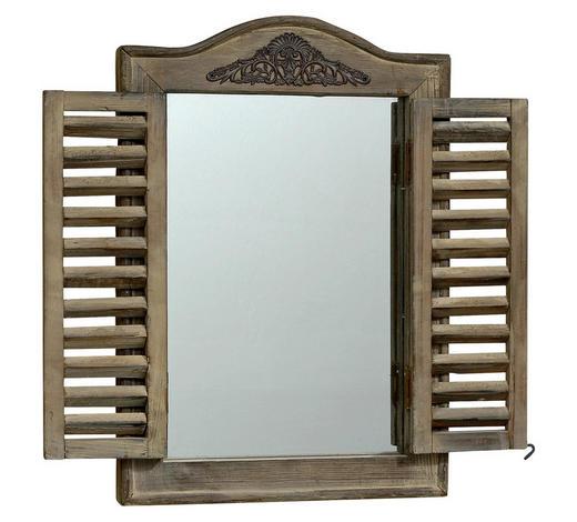 NÁSTĚNNÉ ZRCADLO, 31/45 cm - přírodní barvy, Lifestyle, dřevo (31/45cm)