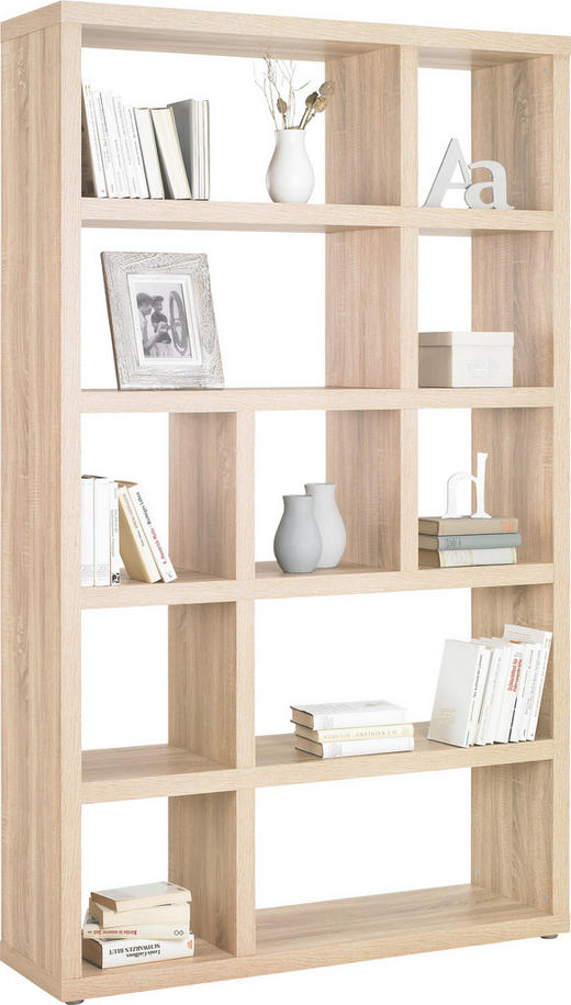 HYLLA - alufärgad/ekfärgad, Design, träbaserade material/plast (123/203/35cm)
