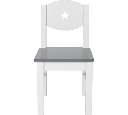 KINDERSTUHL - Weiß/Grau, Design, Holzwerkstoff (29,5/29,7/52,5cm) - My Baby Lou