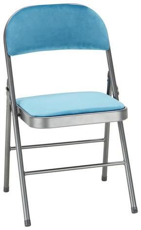 KLAPPSTOL - blå/grå, Design, metall/textil (46/78/46cm)