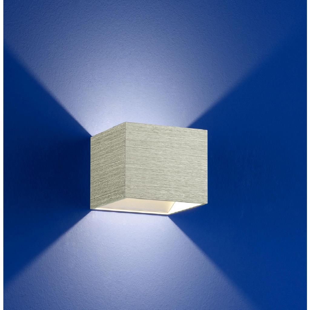 XXXLutz Led-wandleuchte , 40095/1-75 , Hellgrau , Metall , 10x10 cm , eloxiert , 007473015803